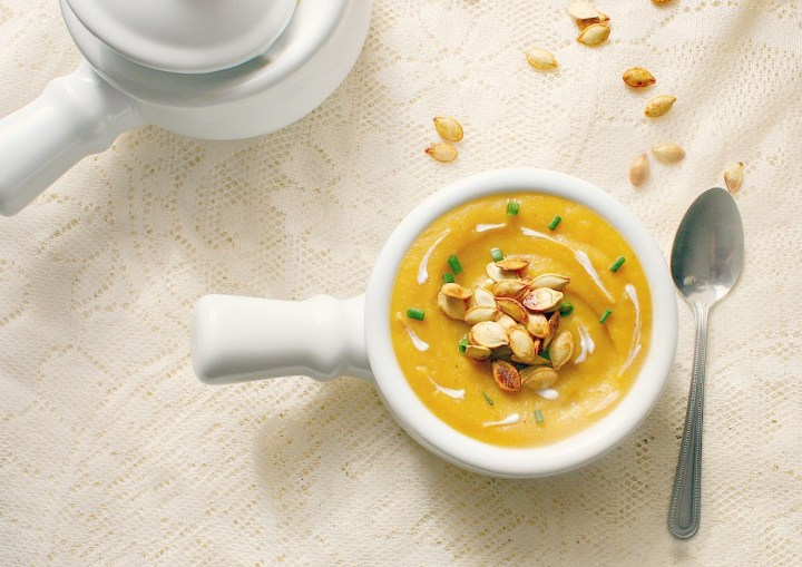 roasted acorn squash and apple soup 3