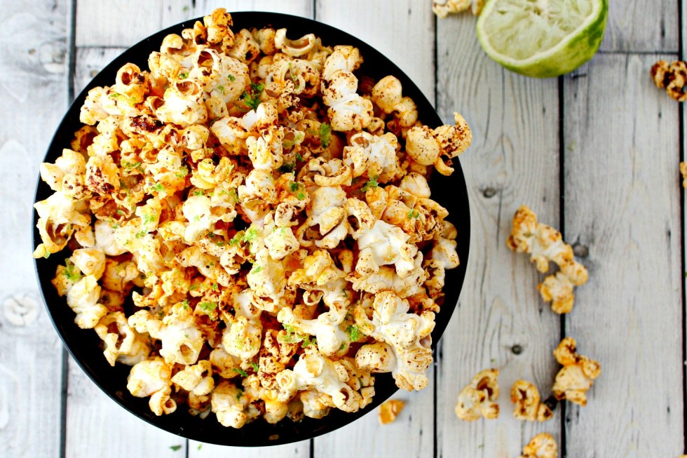 Chili and Lime Popcorn (Popped in Coconut Oil)