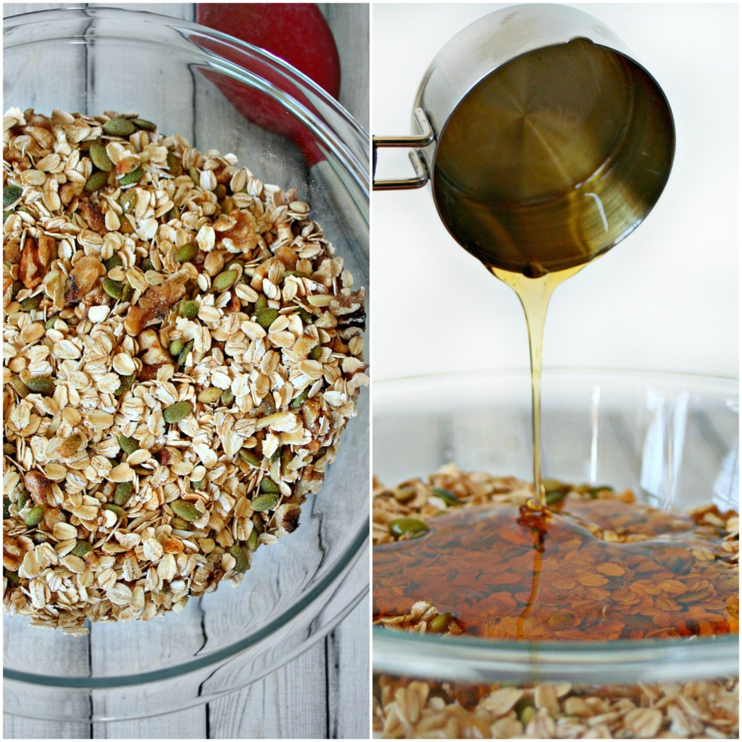 Homemade Granola Mix and Honey