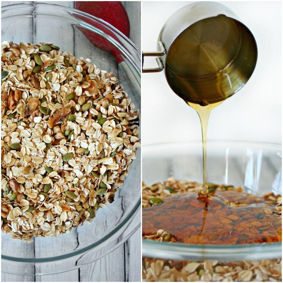 Homemade Granola Mix and Honey