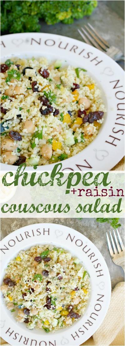 Chickpea and Raisin Couscous Pinterest