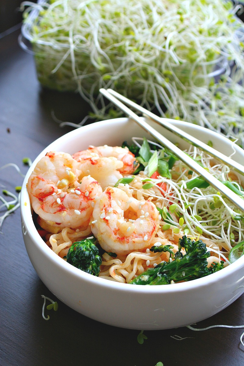 Quick Sesame Shrimp Ramen Stir-fry 2