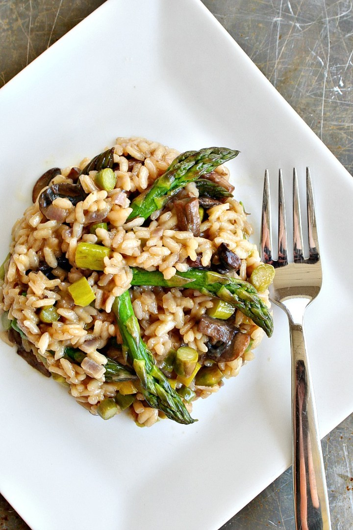 Beer Risotto with Mushrooms and Asparagus 2