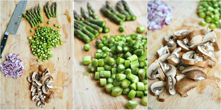 Risotto Vegetables Collage