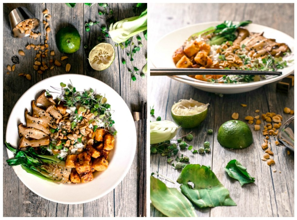 crispy-soy-tofu-and-coconut-rice-collage