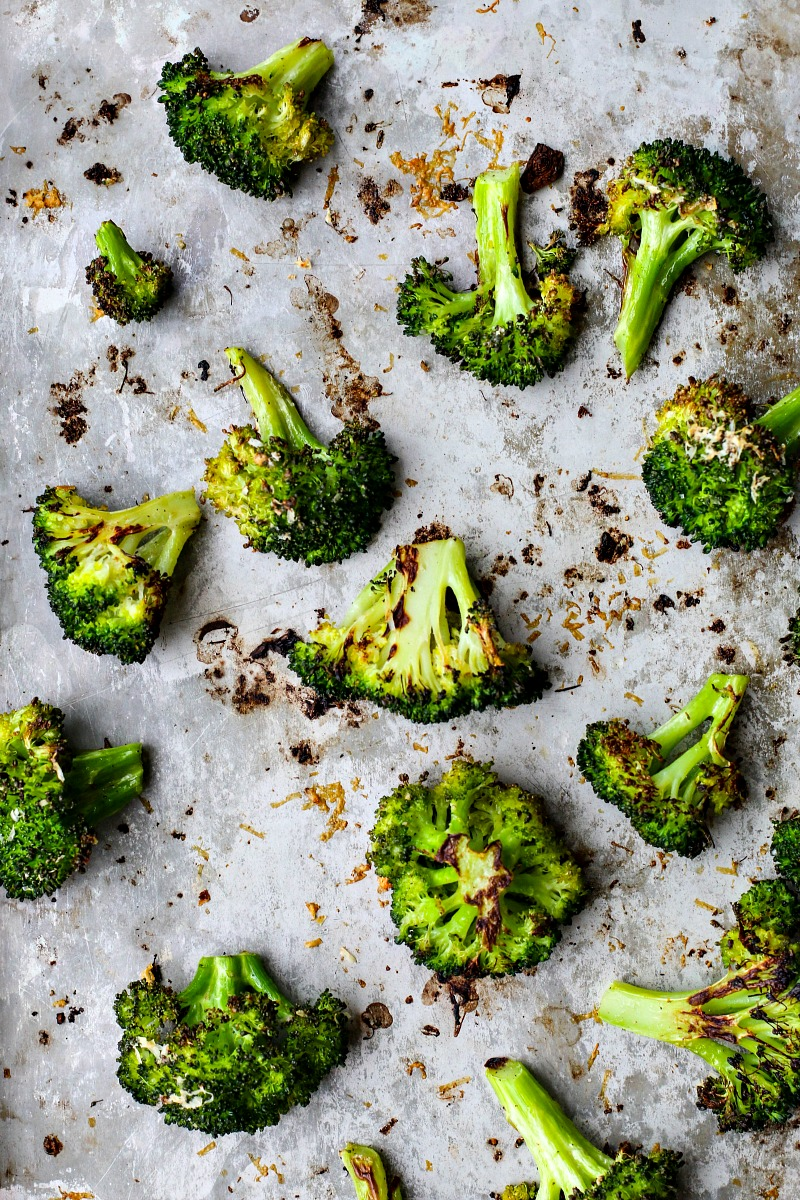 Roasted Broccoli With Garlic + Parmesan | Killing Thyme