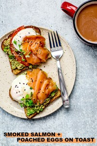 Smoked Salmon + Poached Eggs on Toast.