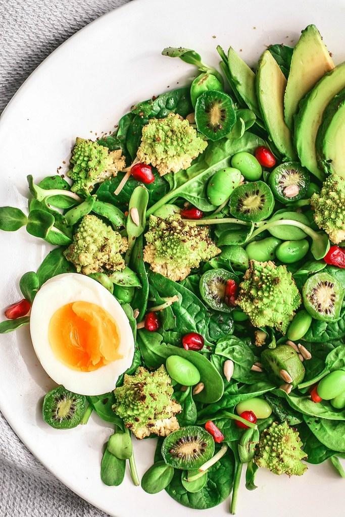 Roasted Romanesco Salad With Molasses Vinaigrette   Killing Thyme