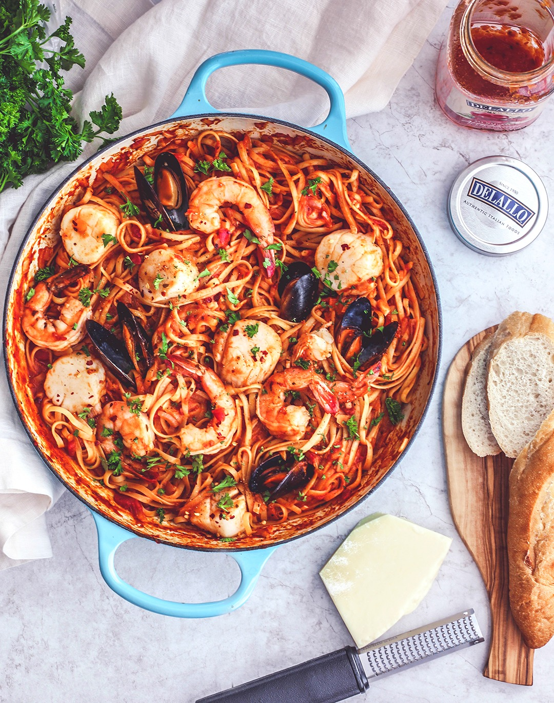 Fiery One-Pot Seafood Pasta With Arrabbiata Sauce | Killing Thyme