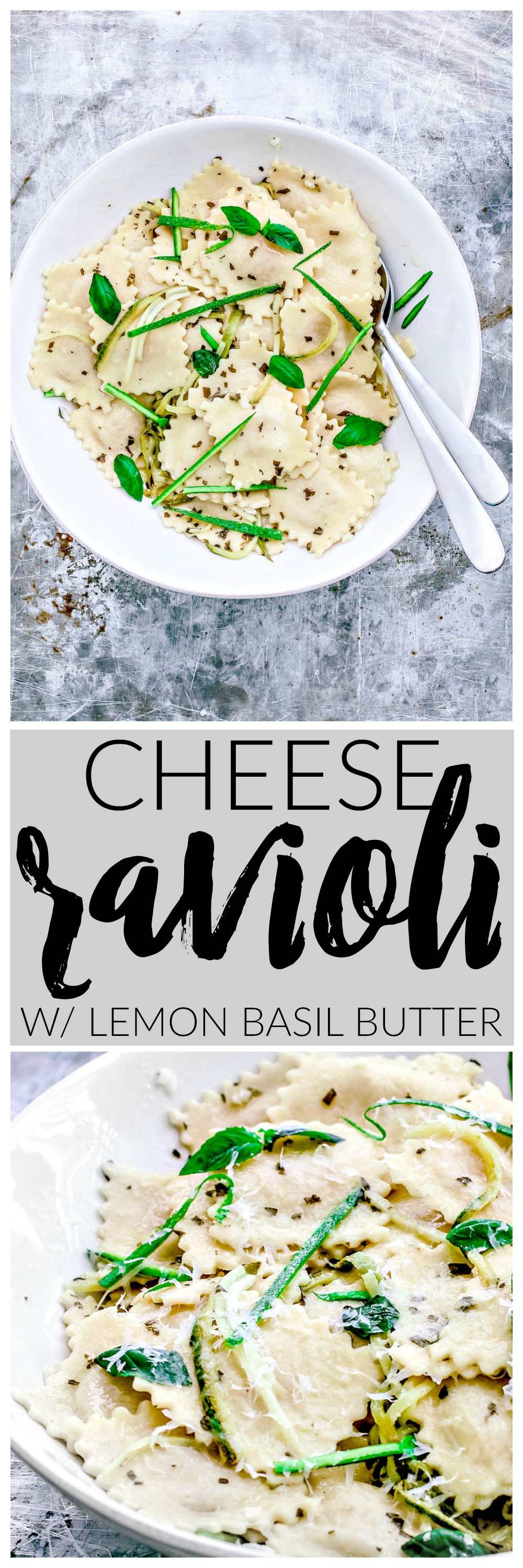 10-Minute Cheese Ravioli With Lemon Basil Butter Sauce | Killing Thyme