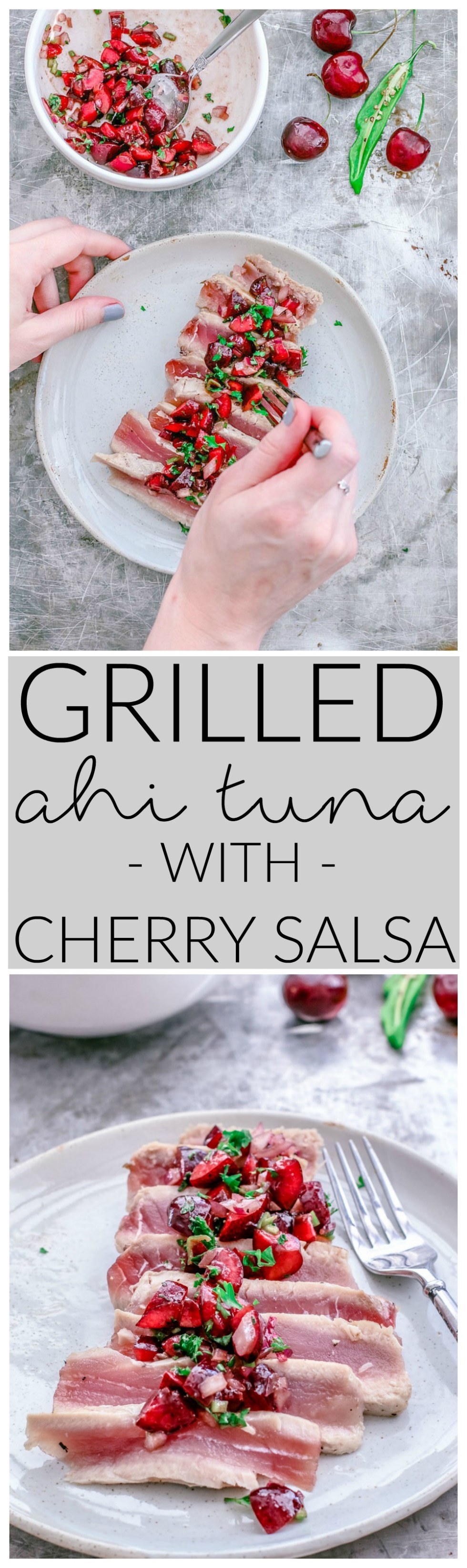 Grilled Ahi Tuna With Cherry Salsa | Killing Thyme