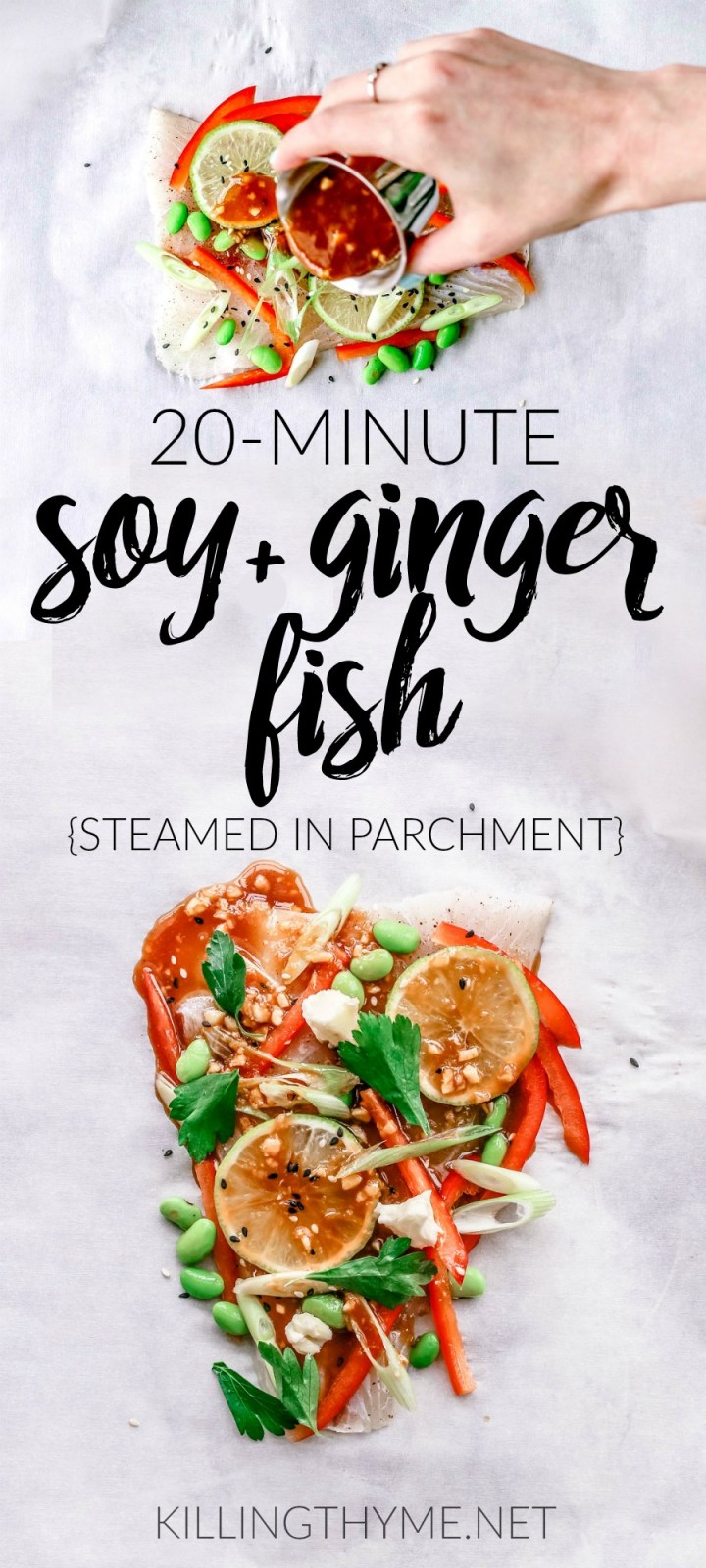 Soy and Ginger Fish Steamed in Parchment | KillingThyme.net