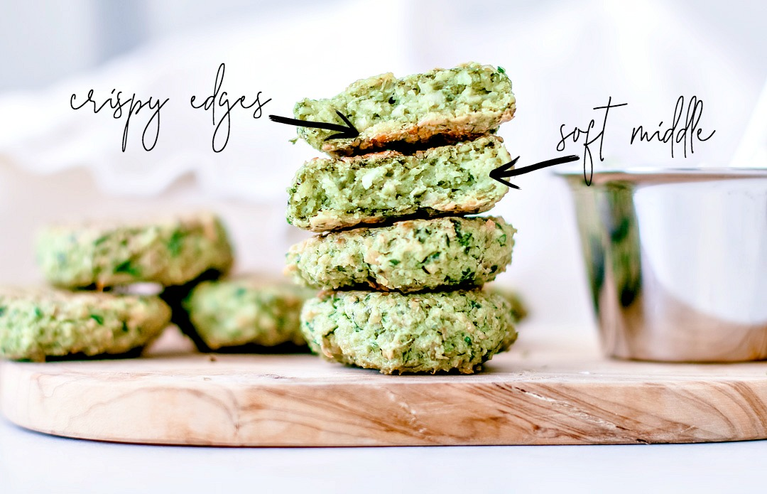 Crispy Baked Falafel With Spinach crispy edges
