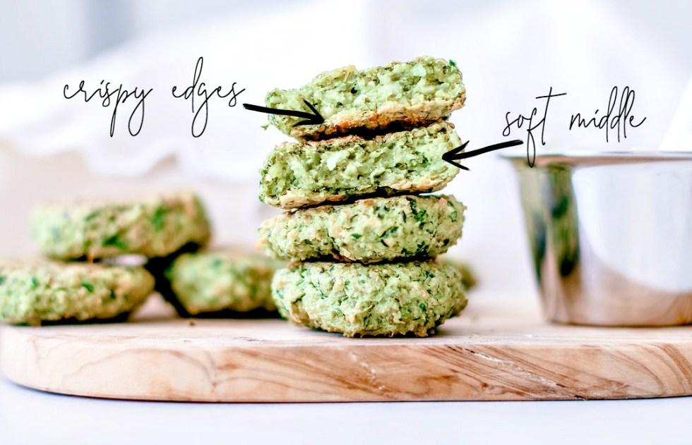 Crispy Baked Falafel With Spinach crispy edges