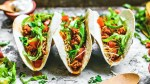 Close up of Instant Pot Ground Turkey Tacos.