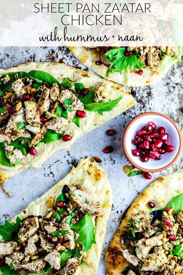 Sheet Pan Chicken With Za'atar and Naan Bread.