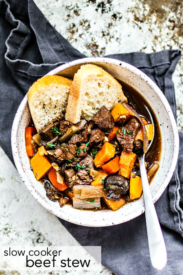 Slow Cooker Beef Stew With Red Wine