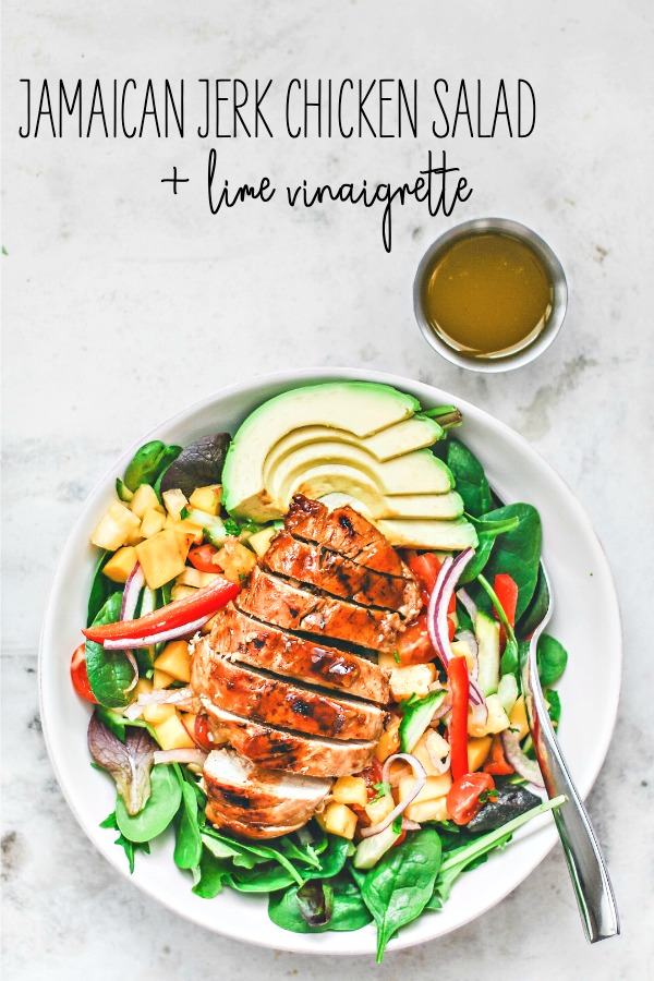 Jamaican Jerk Chicken Salad With Lime Vinaigrette