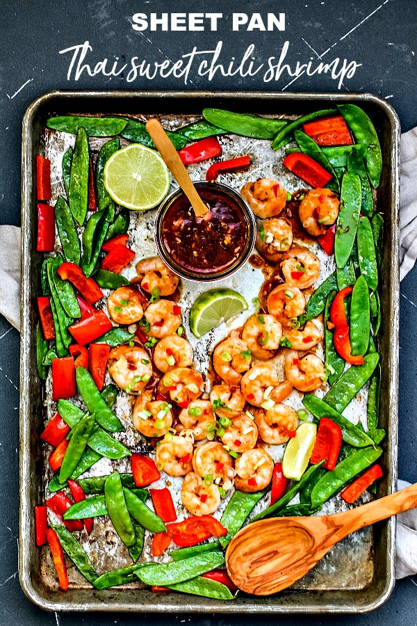 Sheet Pan Spicy Thai Sweet Chili Shrimp
