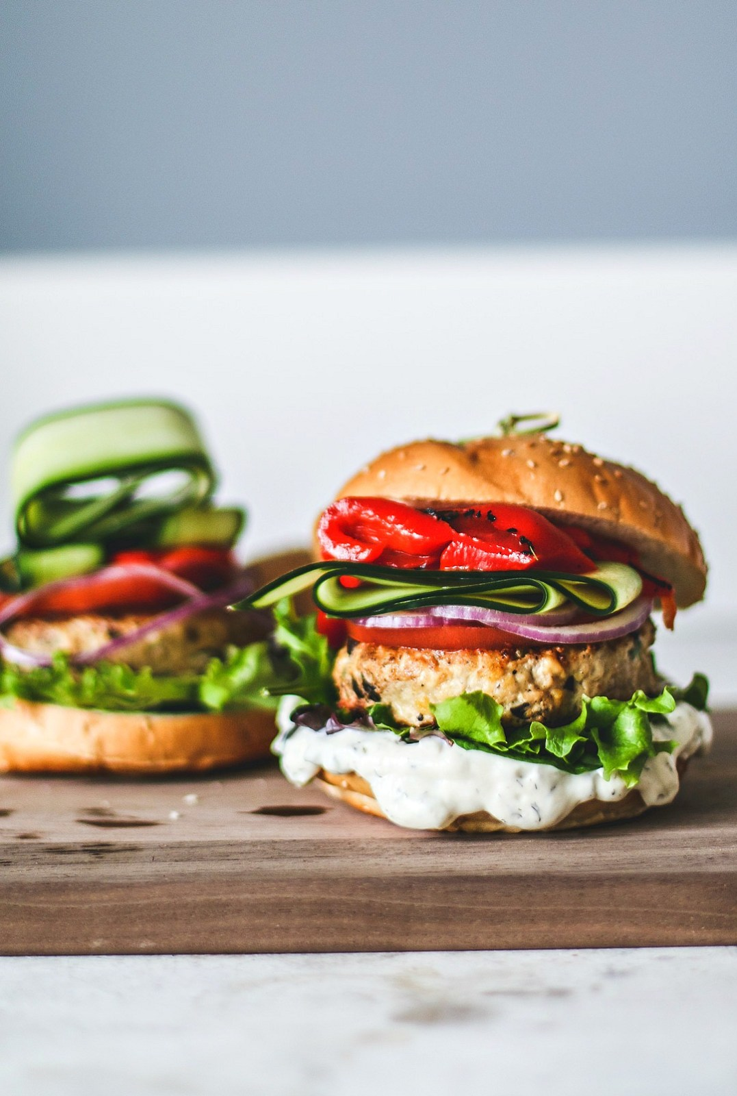 Greek Turkey Burgers.