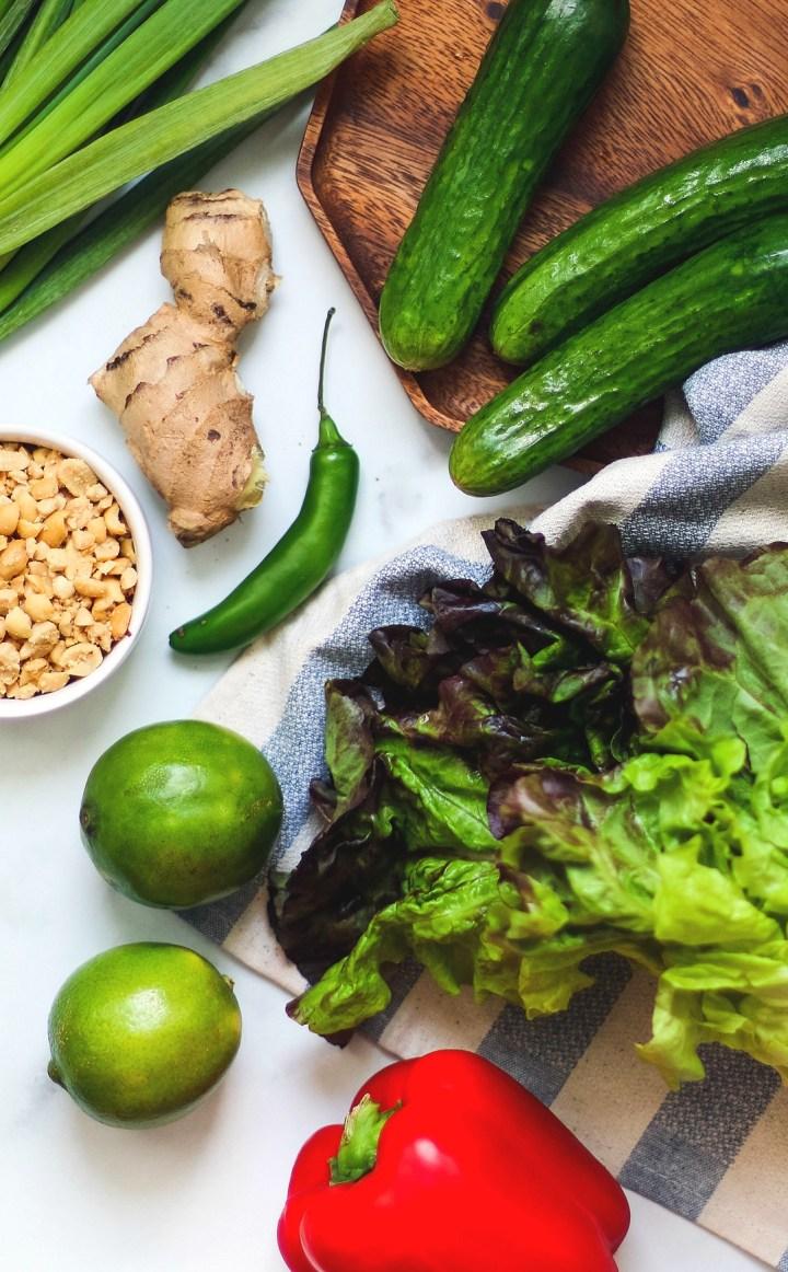 Fresh produce spread.