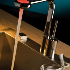 Led Kitchen Faucet Drop In Stainless Steel Sink Basement Bar Design #5: Water And Washing Up