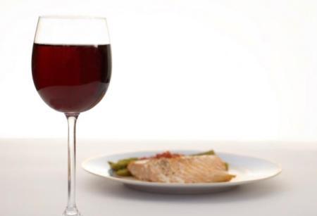 red wine fish