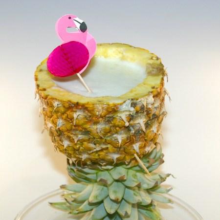 Tiger Shark Tiki drink in pineapple goblet