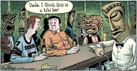 Tiki Related Bizarro Comic
