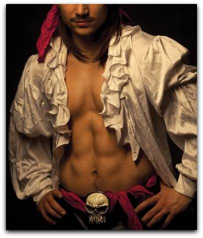 barechested pirate