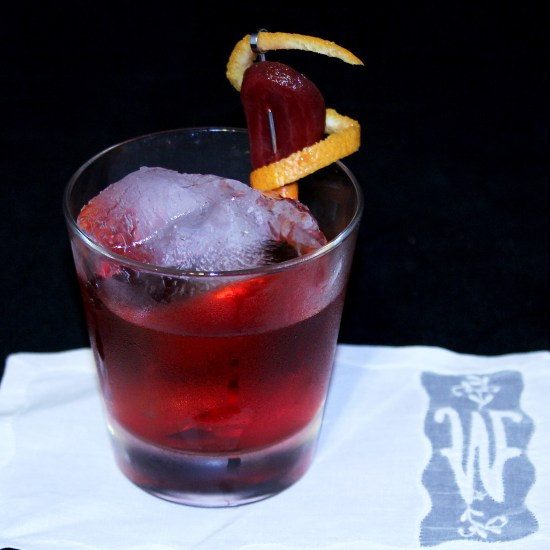 Beet Negroni, inspired by the mad scientists at Curio at Harvest