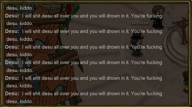 a dead player spamming in Town of Salem