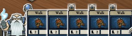 a dwarf in card hunter with 5 'walk' cards