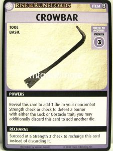 crowbar card from the pathdfinder adventure card game