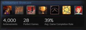 steam achievement showcase: 4000 achievements