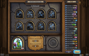 hearthstone screenshot showing 2 complete dungeon runs in 2 tries
