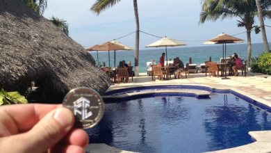 Photo of Luby and His Hall of Fame Coin Visit Punta De Mita