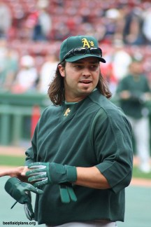 Nick Swisher During His Days As An Oakland A