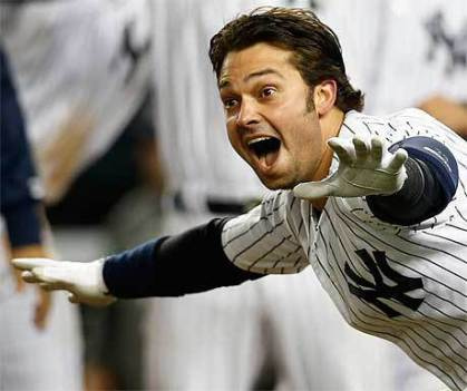 Nick Swisher When Playing For The New York Yankees
