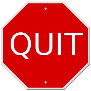 Stop Vs. Quit