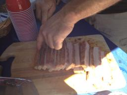 Pork Belly Going In