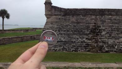 Photo of RandyH7369 and His Coin in St. Augustine, Florida