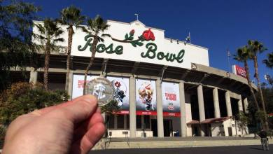 Photo of Luby at the Rose Bowl For BCS National Championship