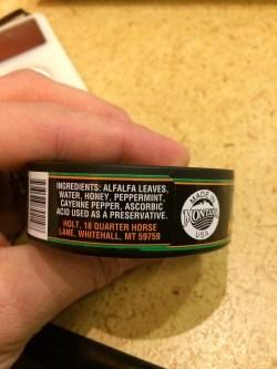 Holt Chew Ingredients