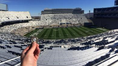 Photo of Luby Checks Out Beaver Stadium at Penn State