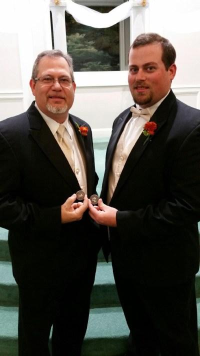 Suthern_gntlman & Lumberjack Tim at Tim's Wedding