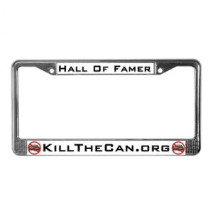 Hall of Fame License Plate Fram 500x500