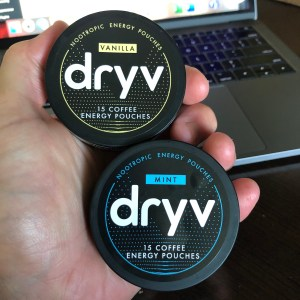 Dryv Energy Pouches Mint and Vanilla