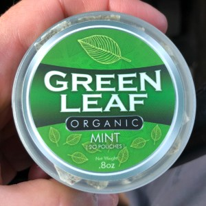 Green Leaf Organic Mint Pouches Feature