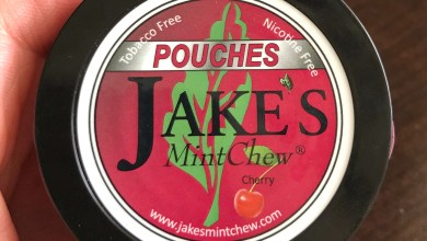 Jake's Mint Chew Cherry Pouches